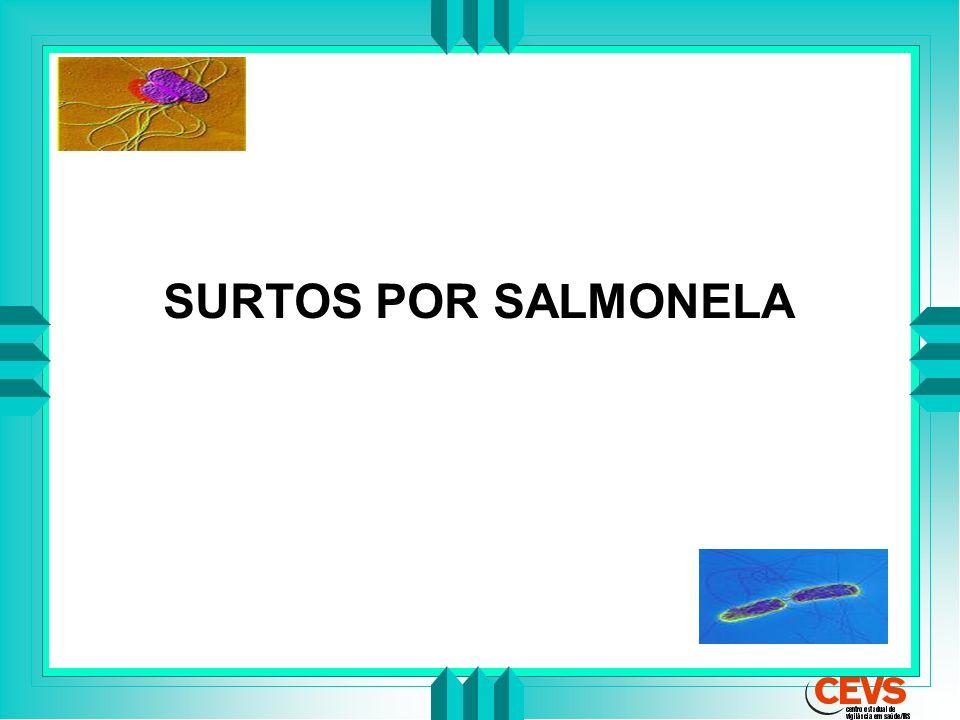 SURTOS POR SALMONELA