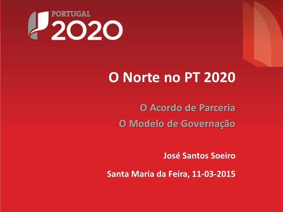 O Norte no PT 2020 O Acordo de Parceria O Modelo de Governação