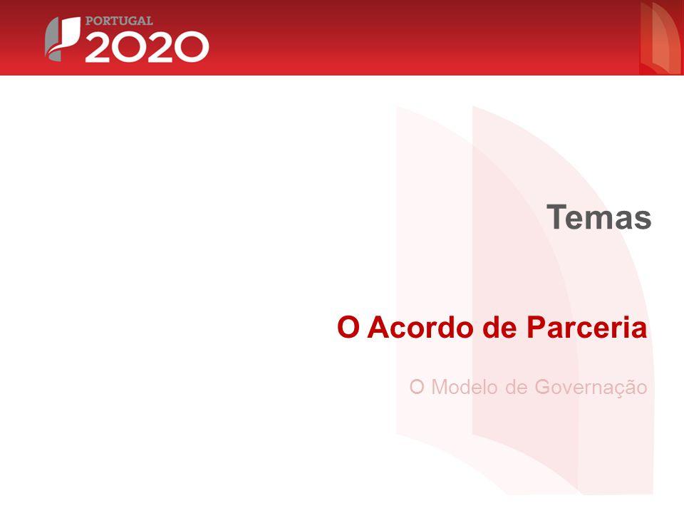Temas O Acordo de Parceria O Modelo de Governação