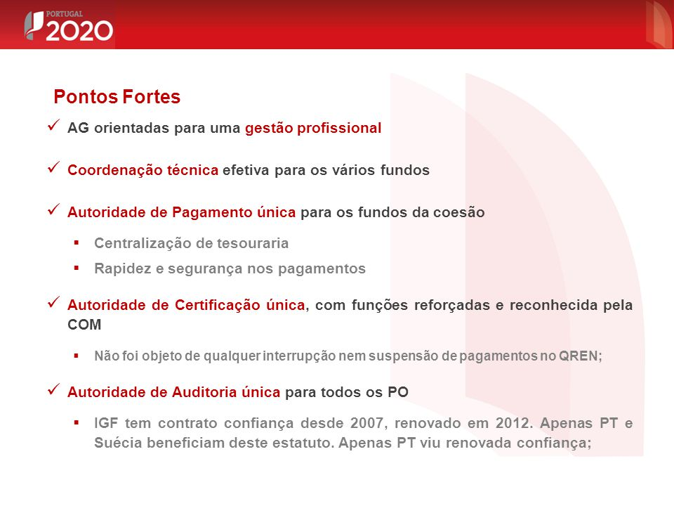 Pontos Fortes AG orientadas para uma gestão profissional
