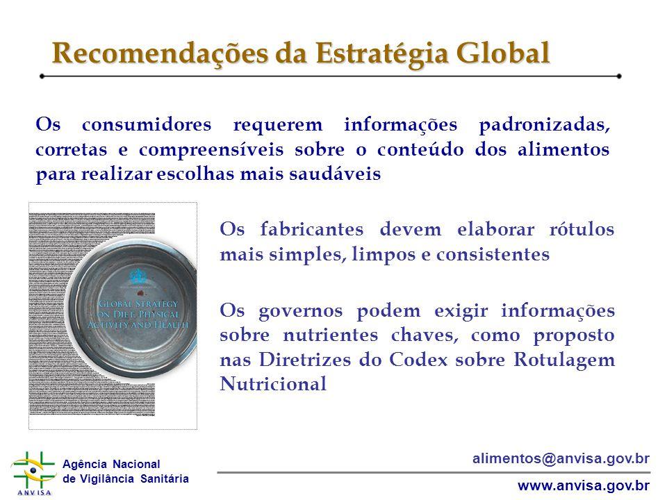 Recomendações da Estratégia Global