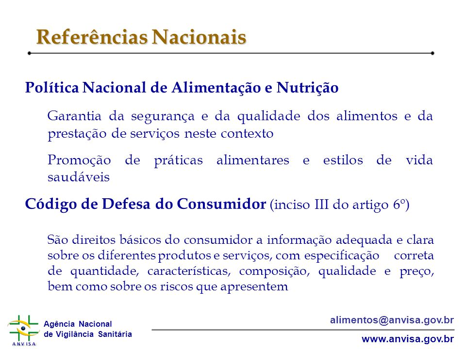 Referências Nacionais