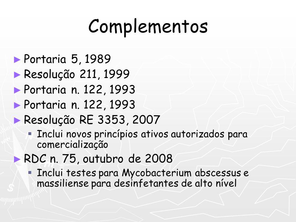 Complementos Portaria 5, 1989 Resolução 211, 1999