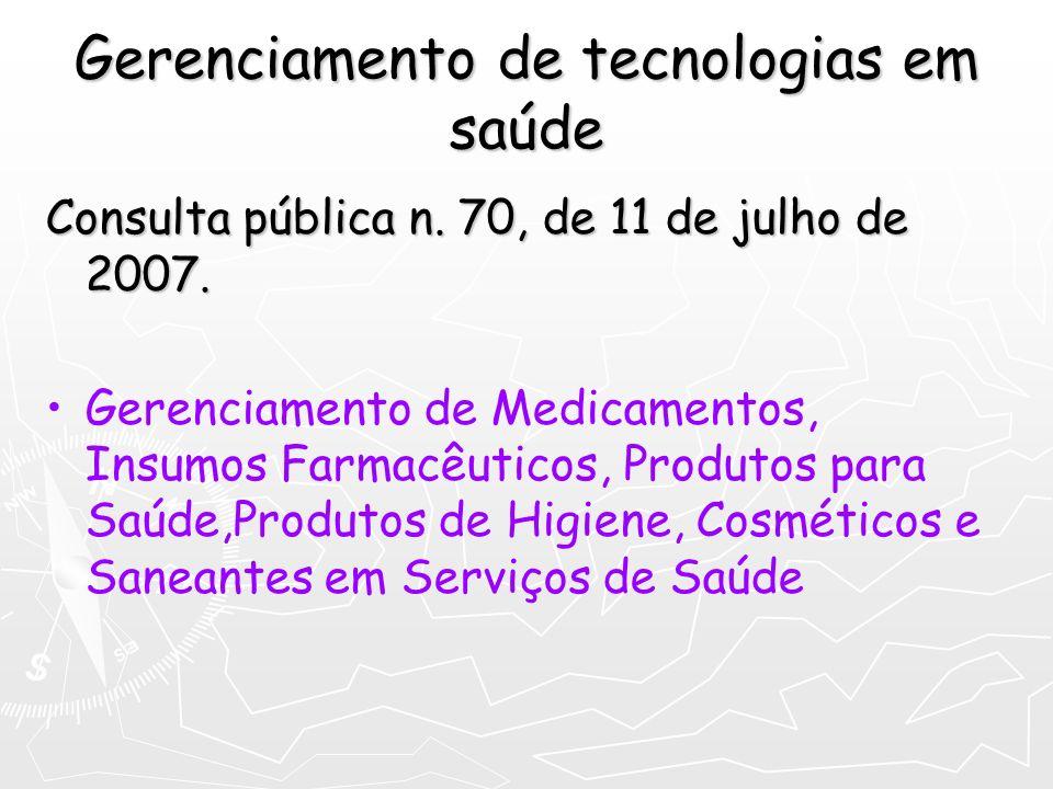 Gerenciamento de tecnologias em saúde