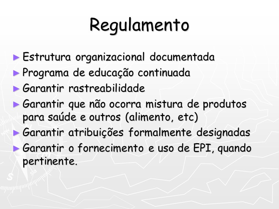 Regulamento Estrutura organizacional documentada