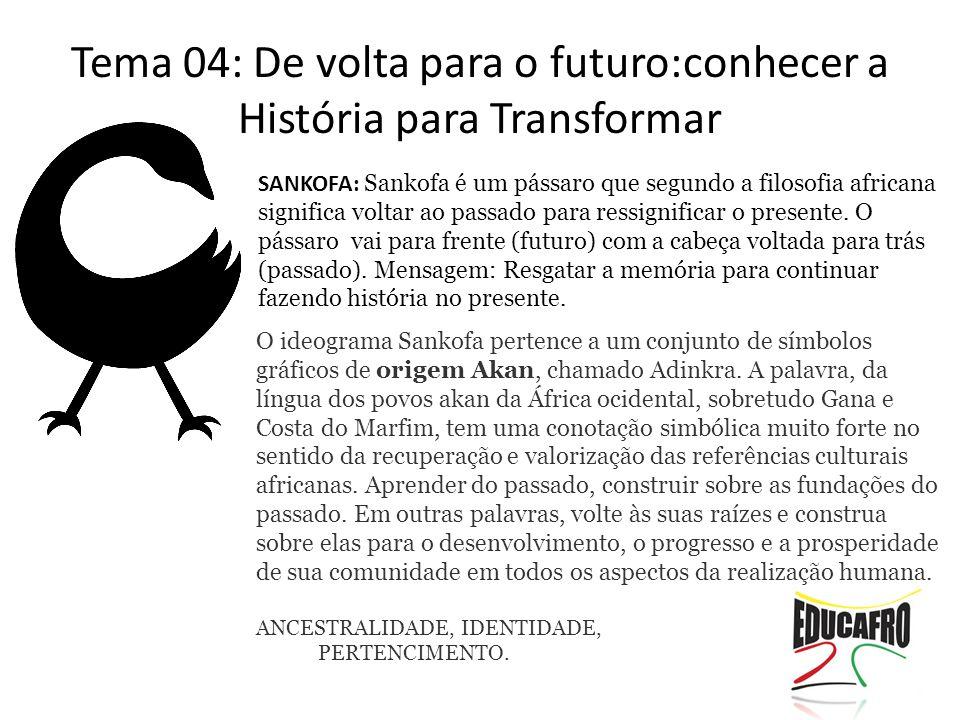 Tema 04: De volta para o futuro:conhecer a História para Transformar
