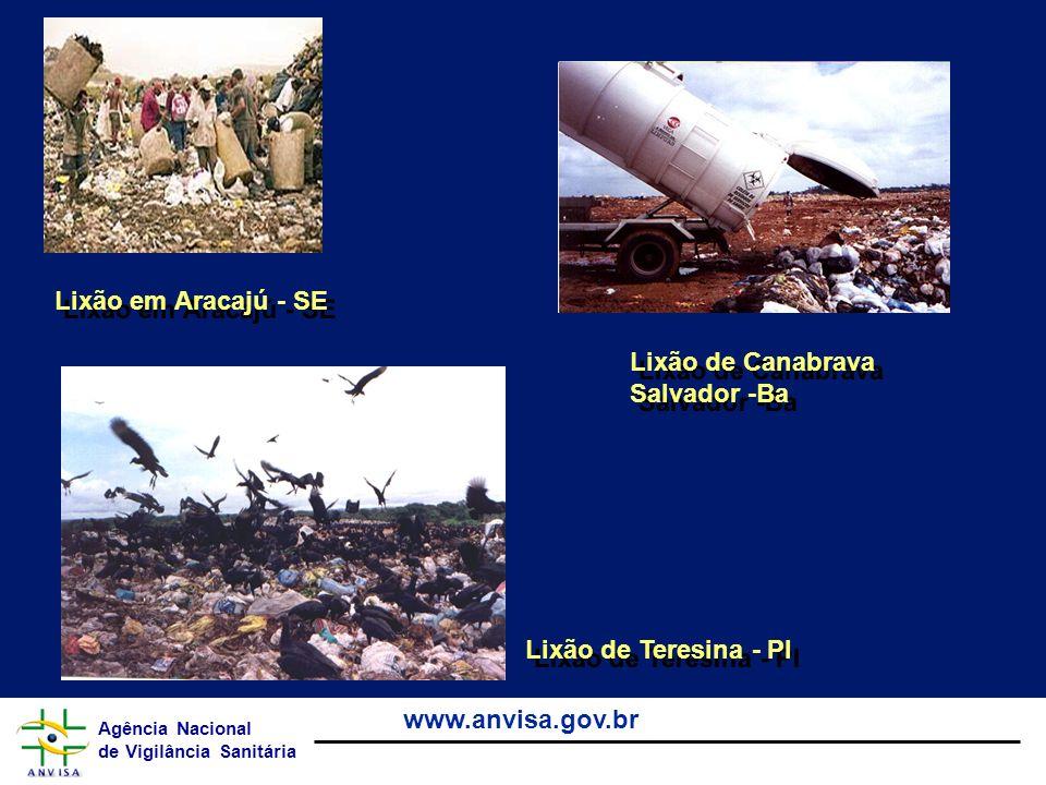 Lixão em Aracajú - SE Lixão de Canabrava Salvador -Ba Lixão de Teresina - PI