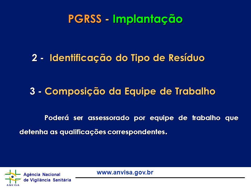 PGRSS - Implantação 2 - Identificação do Tipo de Resíduo