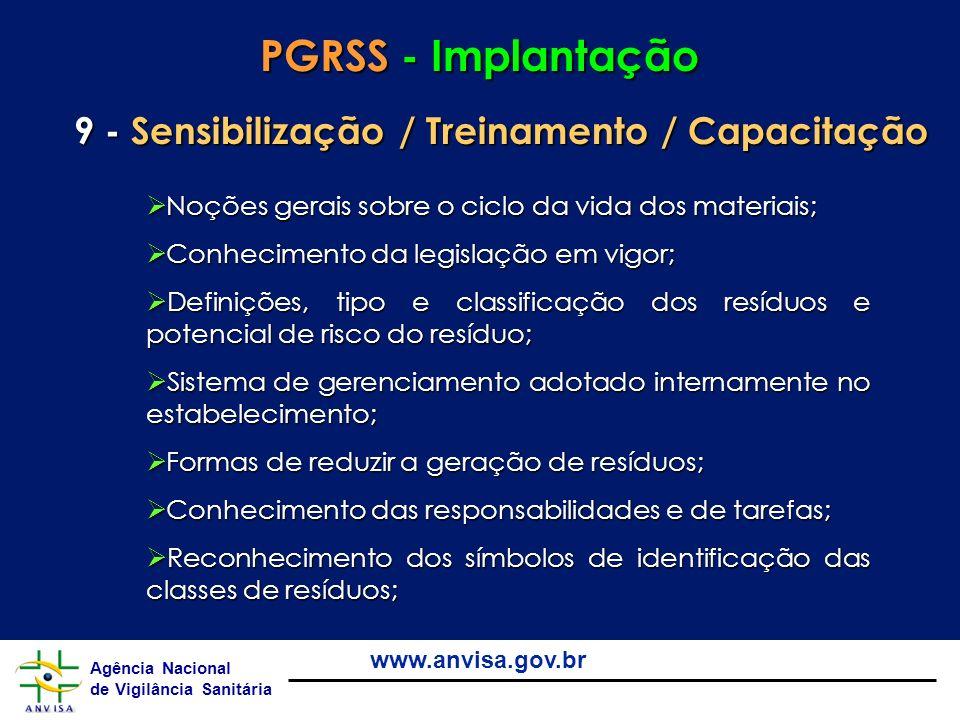 PGRSS - Implantação 9 - Sensibilização / Treinamento / Capacitação