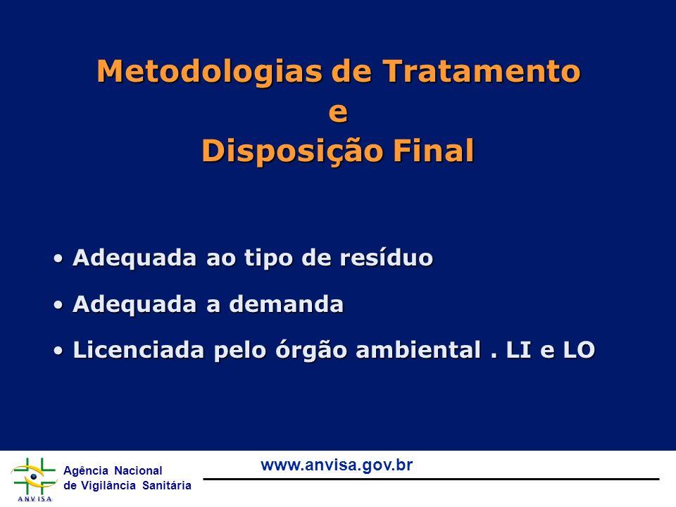 Metodologias de Tratamento