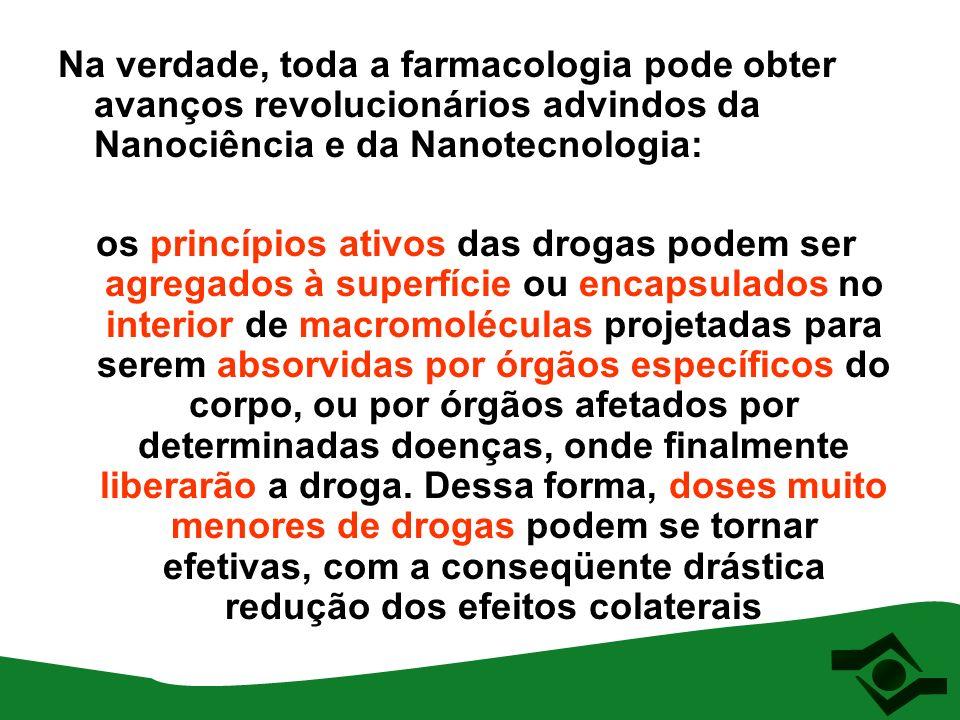 Na verdade, toda a farmacologia pode obter avanços revolucionários advindos da Nanociência e da Nanotecnologia: