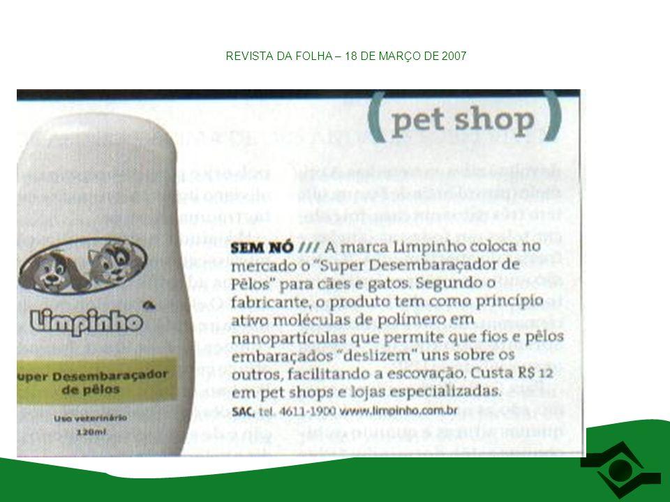 REVISTA DA FOLHA – 18 DE MARÇO DE 2007