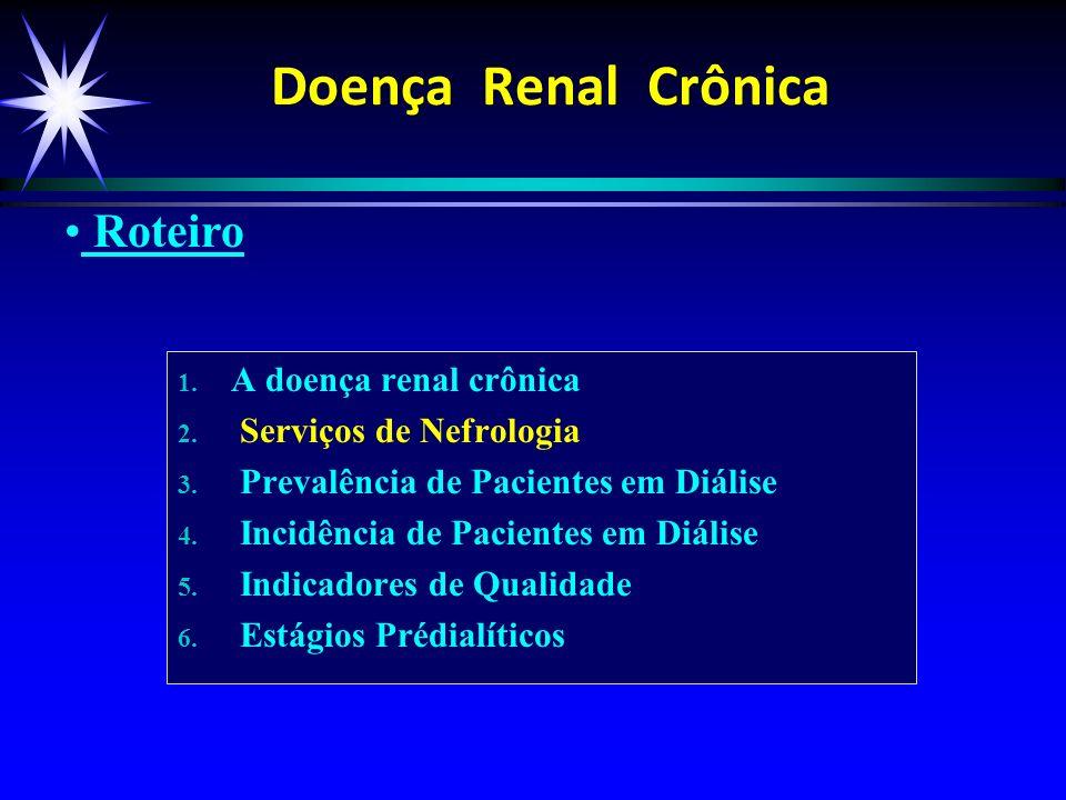 Doença Renal Crônica Roteiro A doença renal crônica