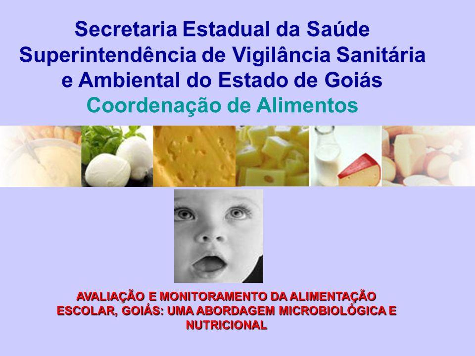 Secretaria Estadual da Saúde Superintendência de Vigilância Sanitária e Ambiental do Estado de Goiás Coordenação de Alimentos