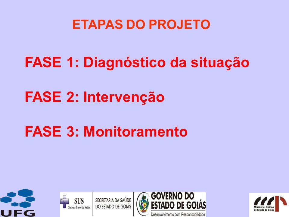 FASE 1: Diagnóstico da situação FASE 2: Intervenção