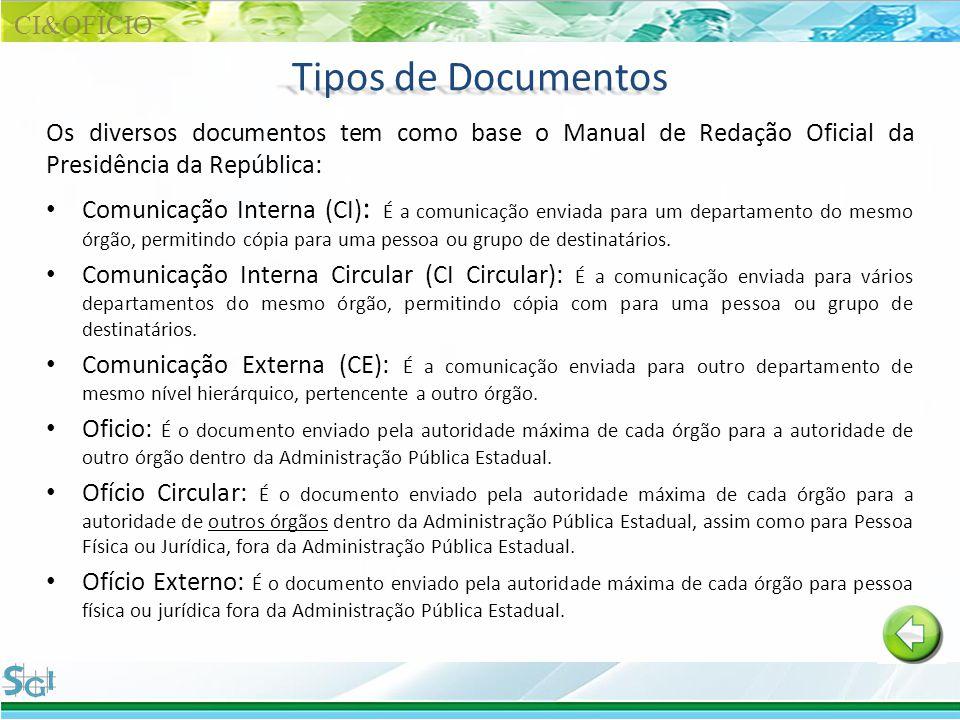 Tipos de Documentos CI&OFÌCIO