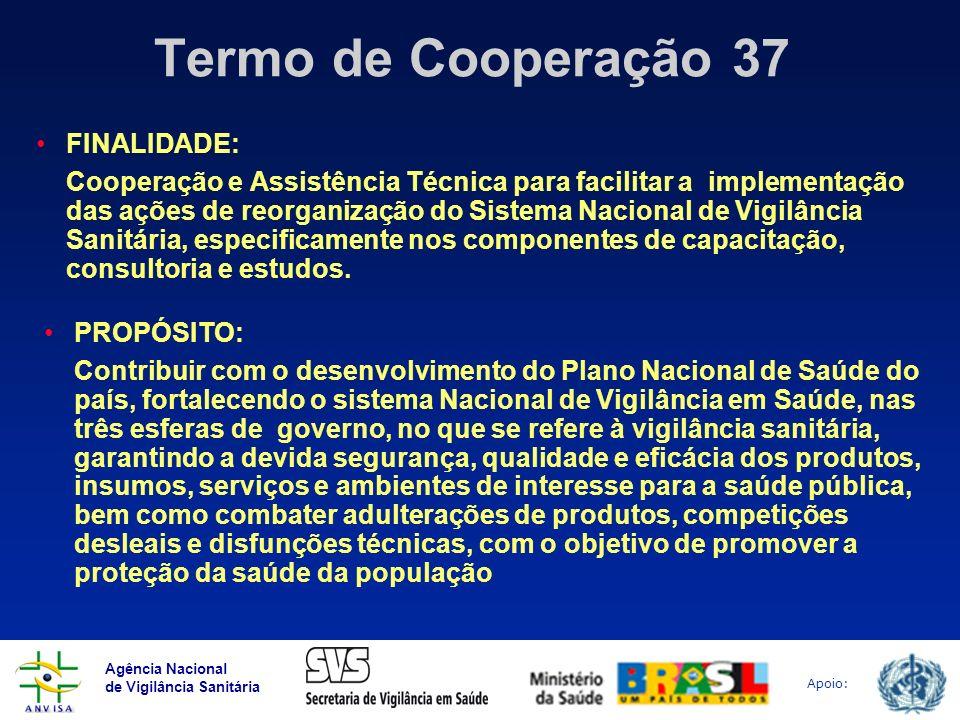Termo de Cooperação 37 FINALIDADE: