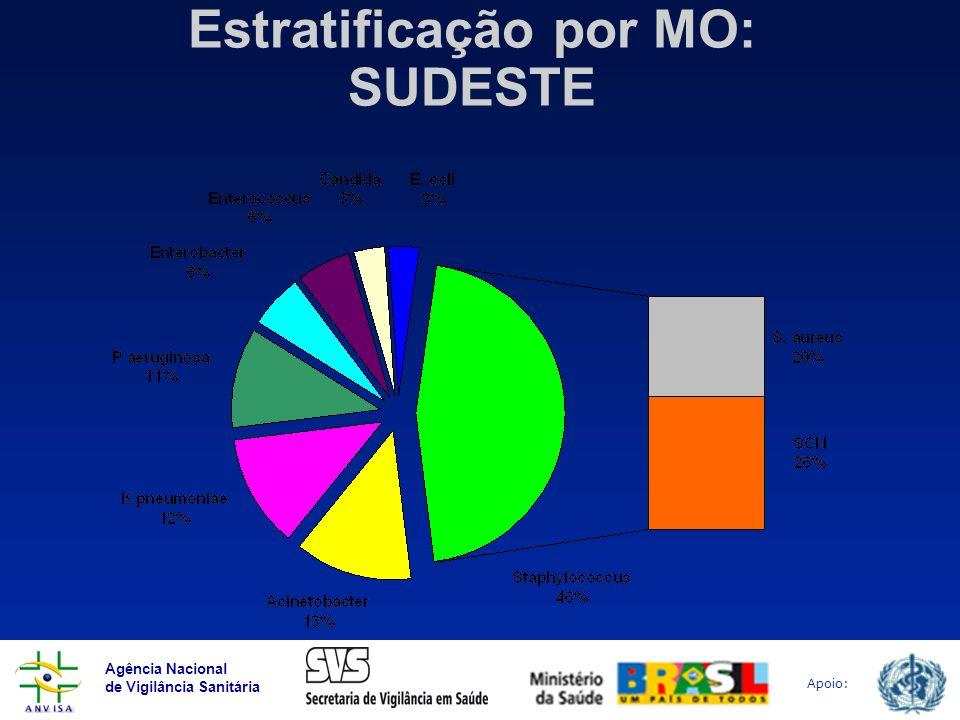 Estratificação por MO: SUDESTE