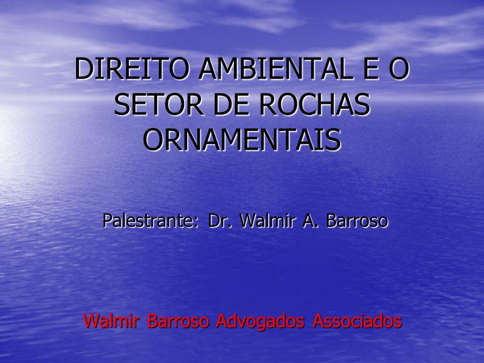 DIREITO AMBIENTAL E O SETOR DE ROCHAS ORNAMENTAIS