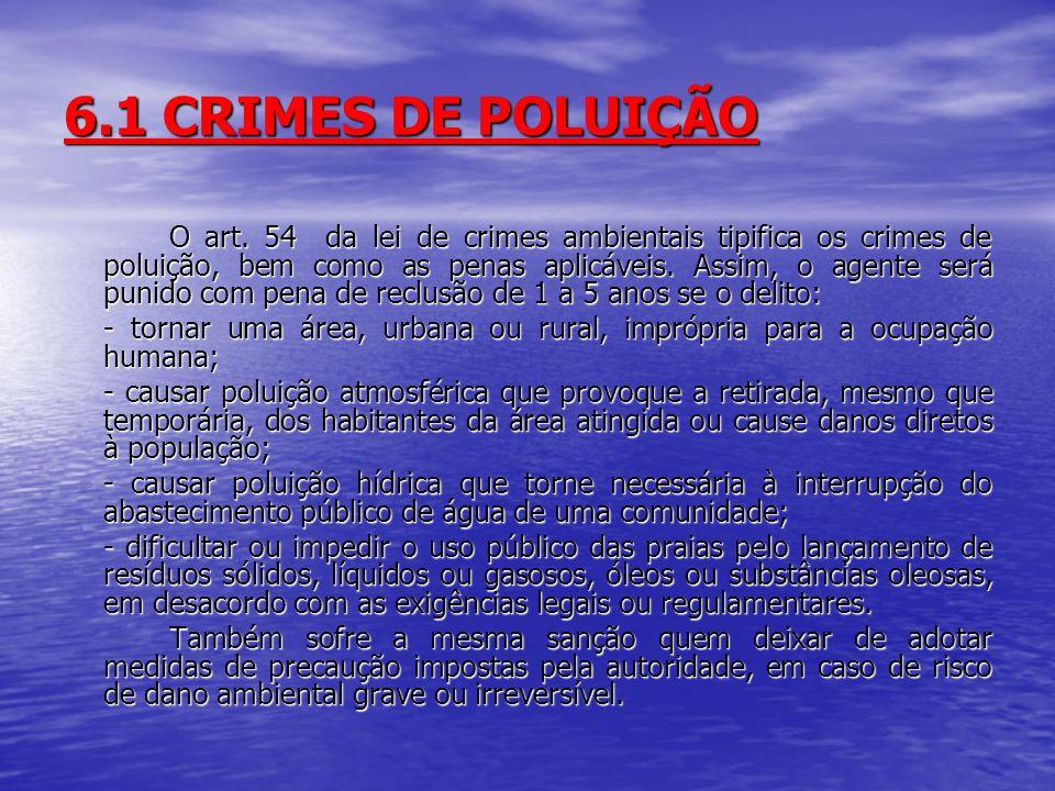6.1 CRIMES DE POLUIÇÃO