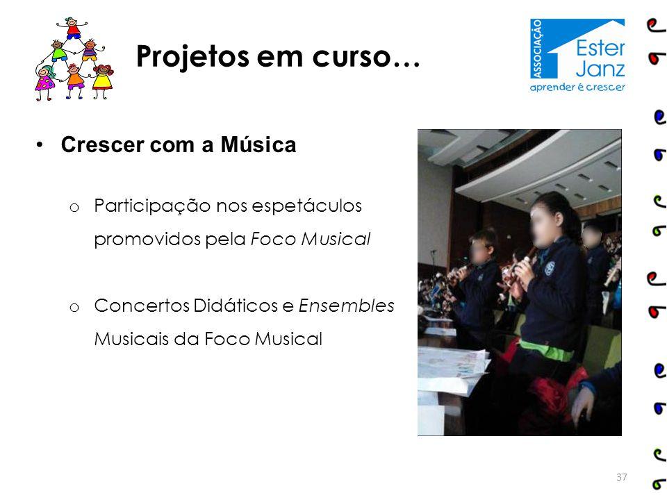 Projetos em curso… Crescer com a Música