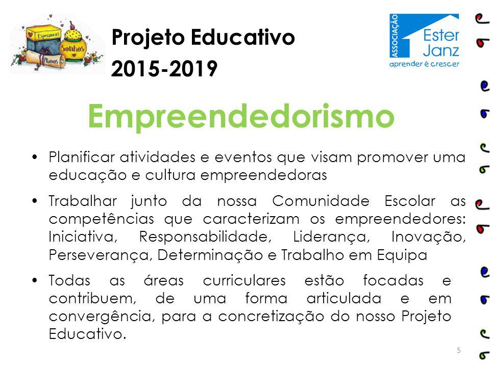 Empreendedorismo Projeto Educativo 2015-2019