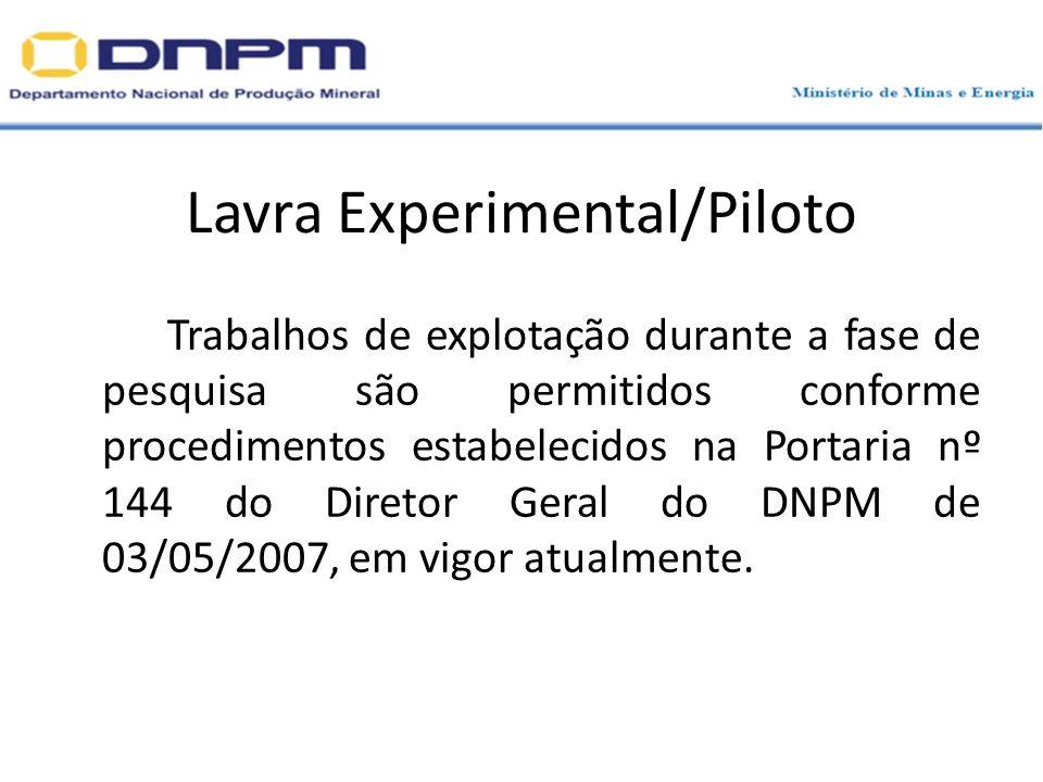 Lavra Experimental/Piloto