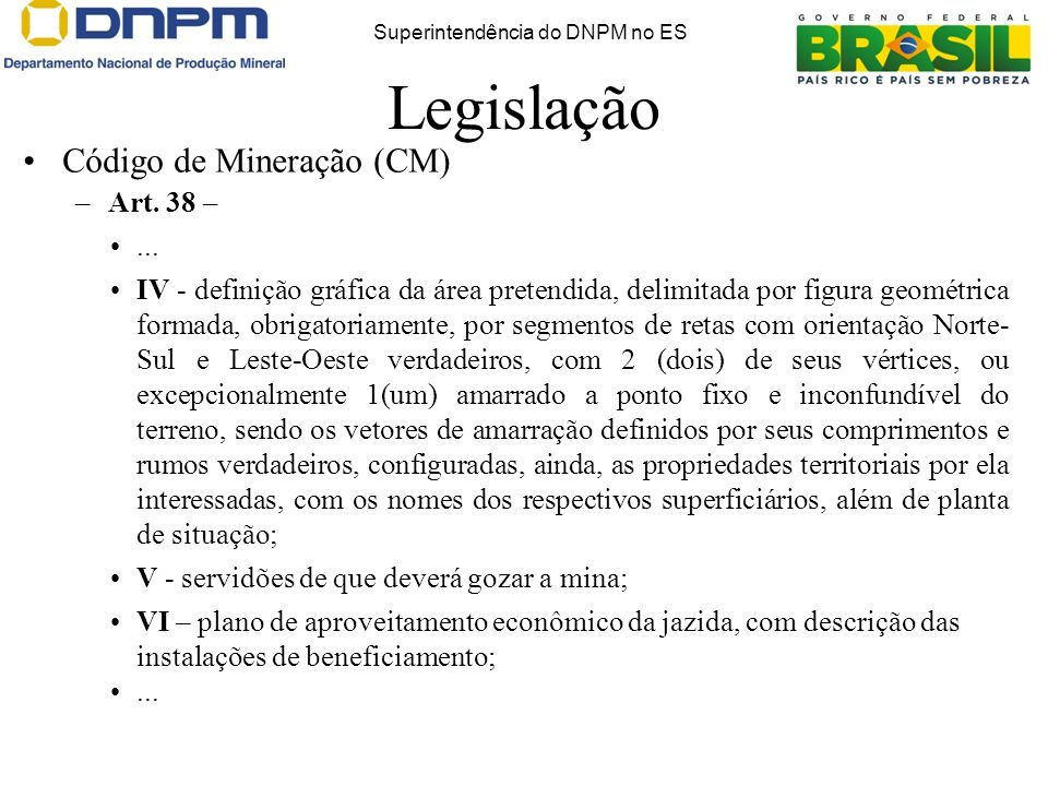 Superintendência do DNPM no ES