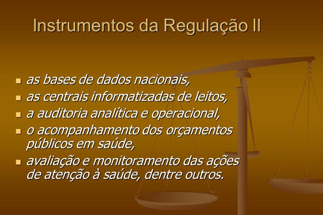 Instrumentos da Regulação II