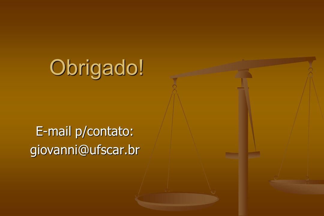 E-mail p/contato: giovanni@ufscar.br