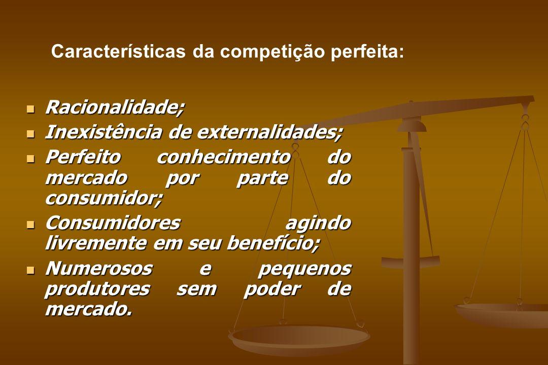 Características da competição perfeita: