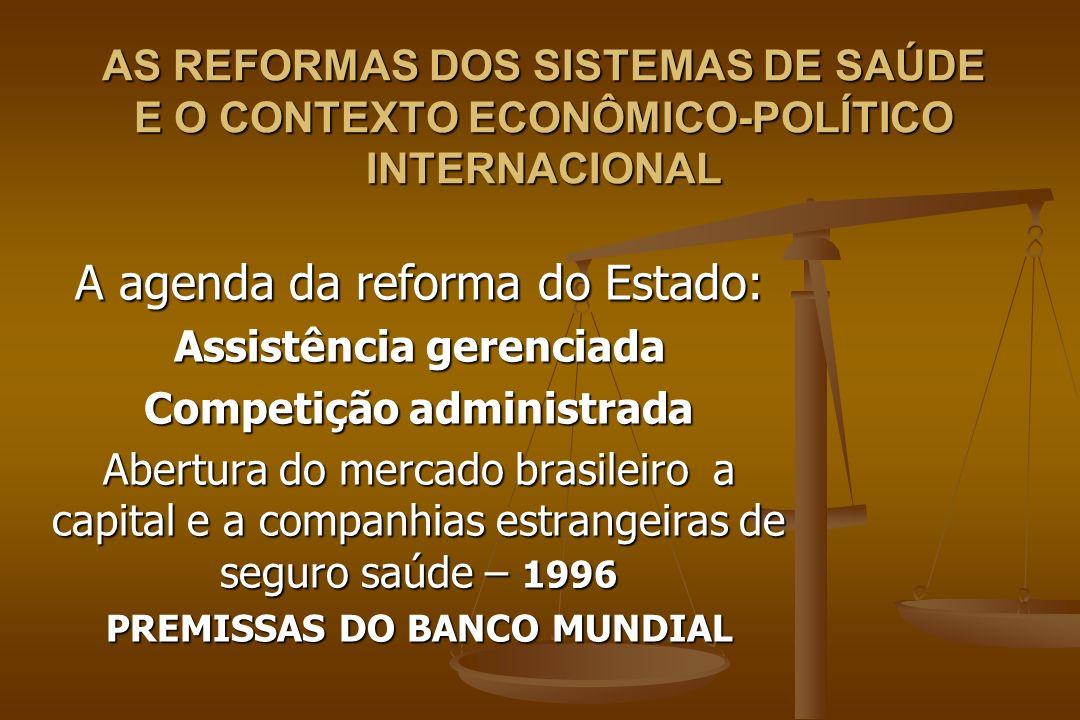 A agenda da reforma do Estado: