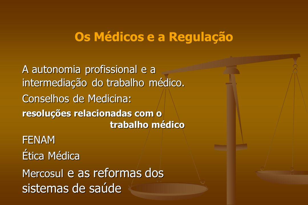 Os Médicos e a Regulação