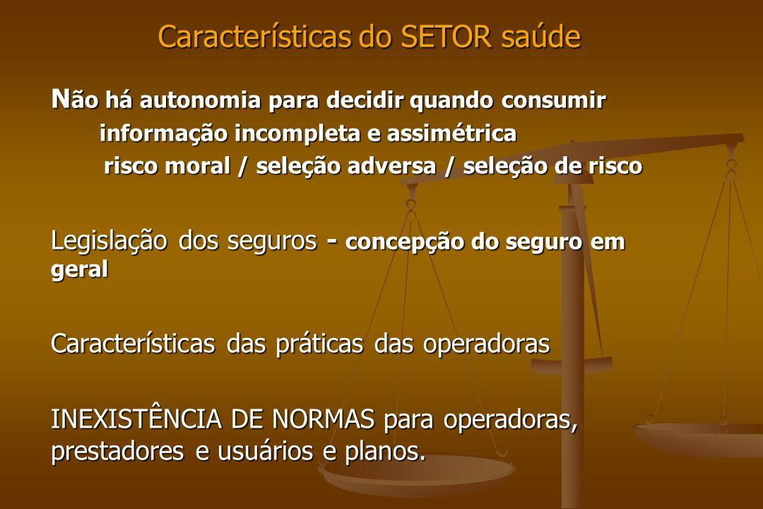 Características do SETOR saúde