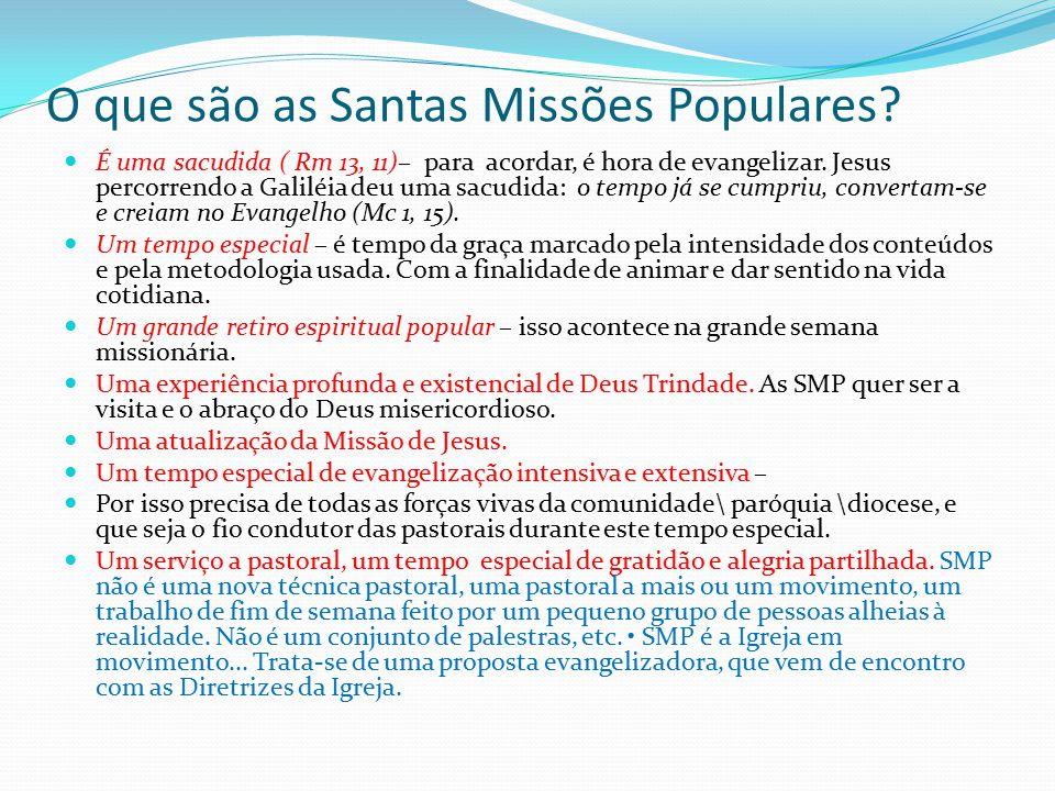 O que são as Santas Missões Populares
