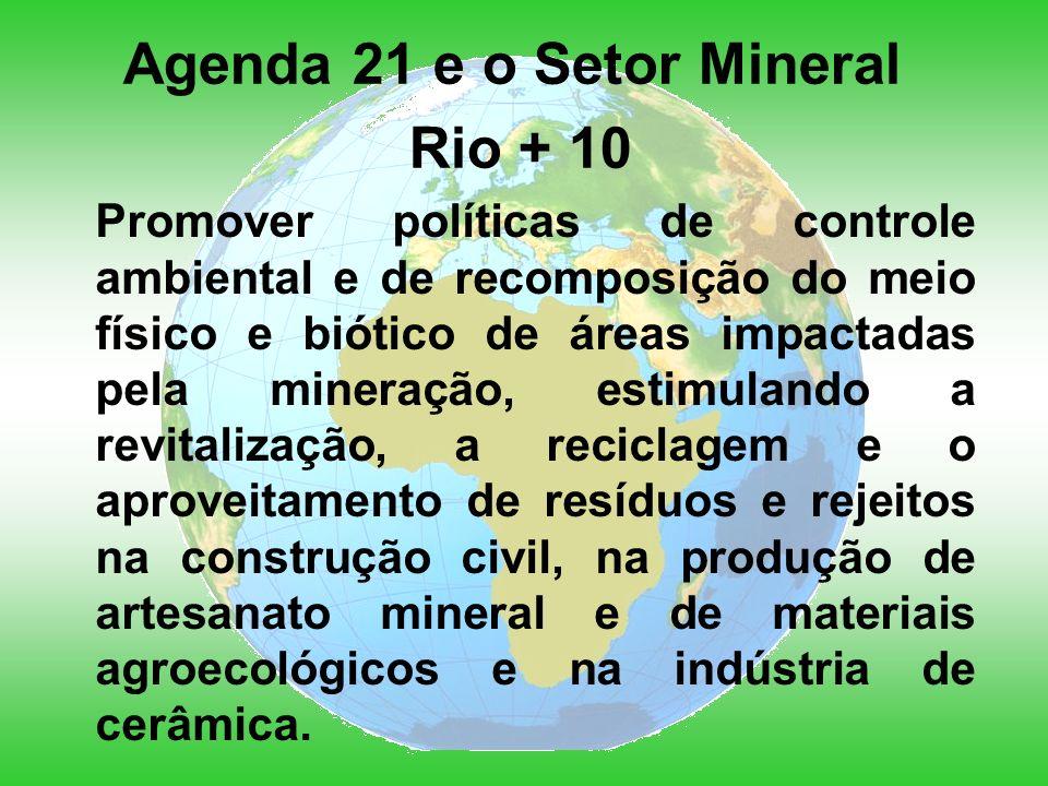 Agenda 21 e o Setor Mineral