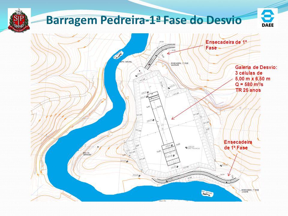 Barragem Pedreira-1ª Fase do Desvio