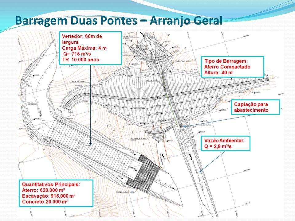 Barragem Duas Pontes – Arranjo Geral