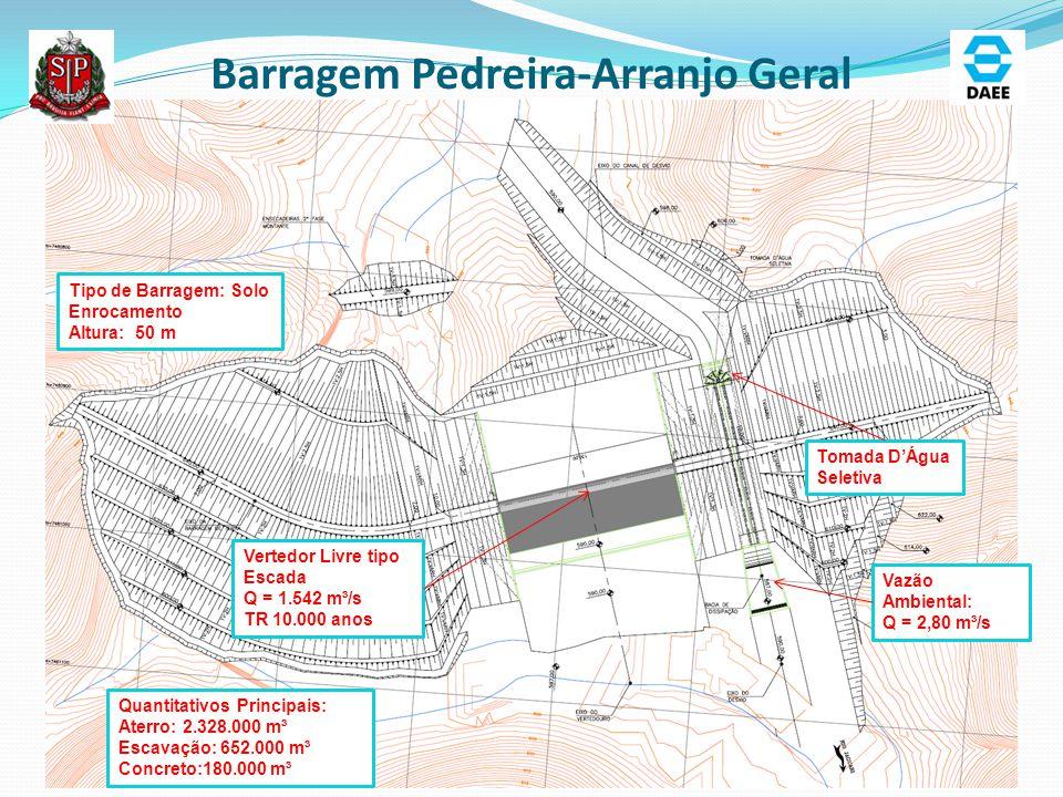 Barragem Pedreira-Arranjo Geral