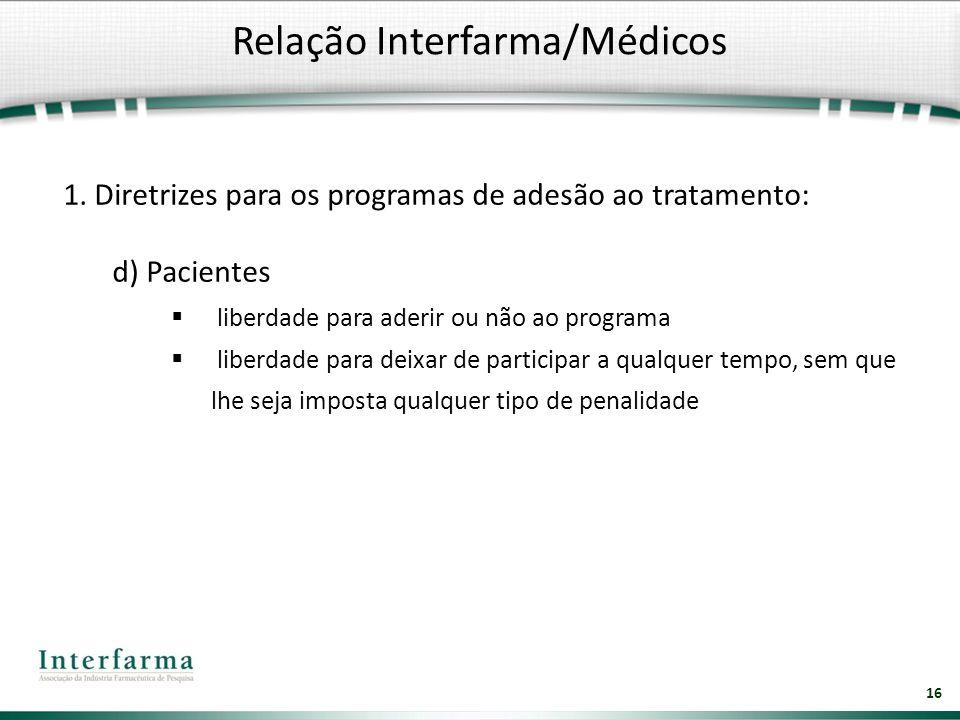 Relação Interfarma/Médicos