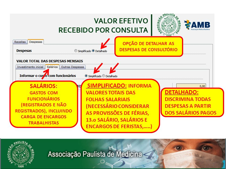 OPÇÃO DE DETALHAR AS DESPESAS DE CONSULTÓRIO