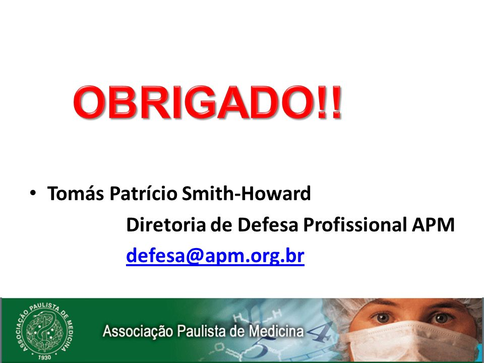 OBRIGADO!! Tomás Patrício Smith-Howard