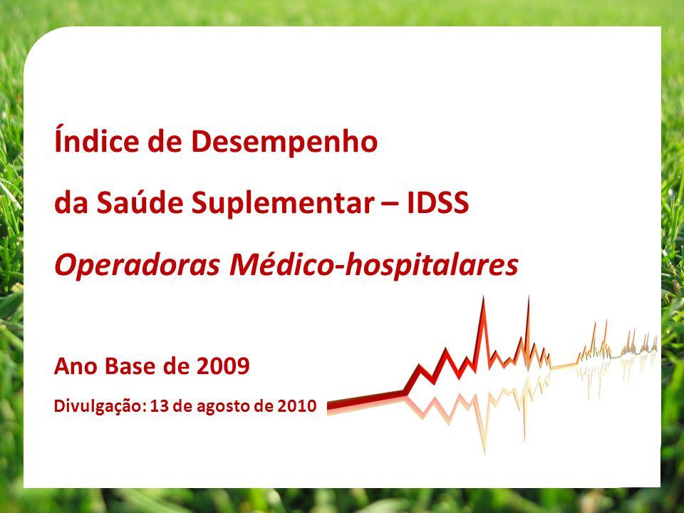 da Saúde Suplementar – IDSS Operadoras Médico-hospitalares