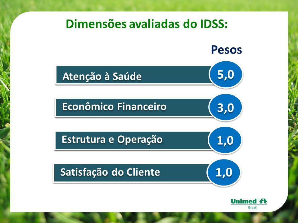 Dimensões avaliadas do IDSS: