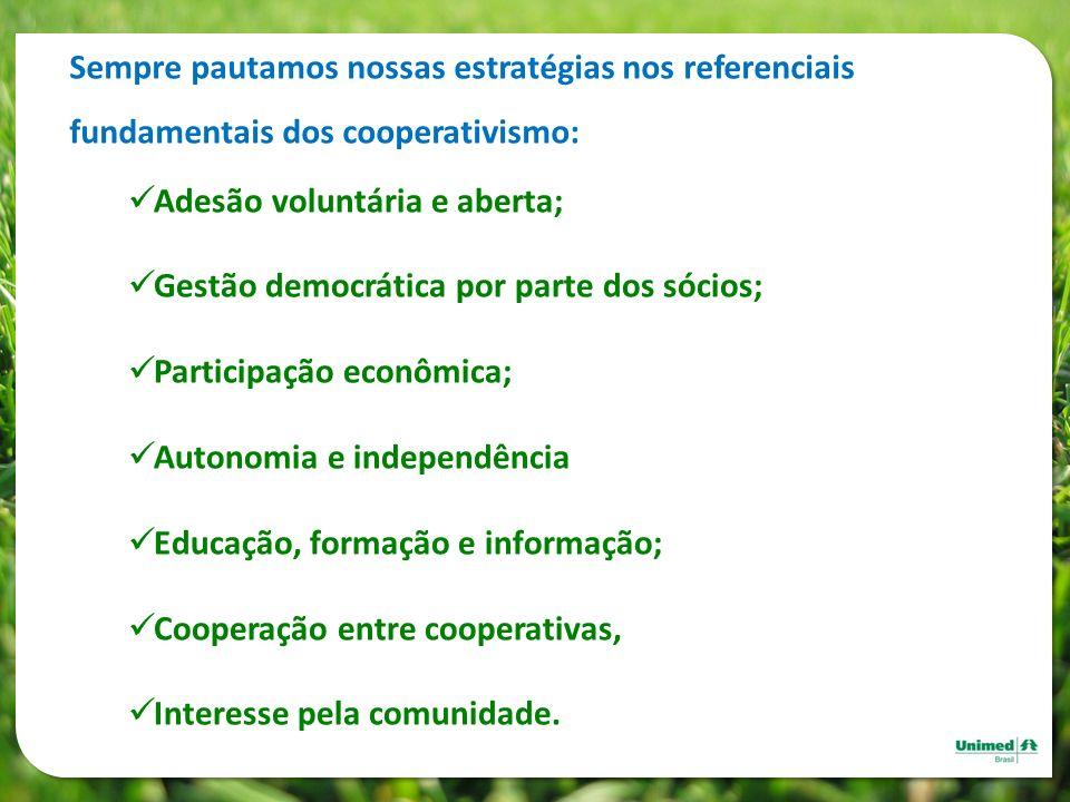 Sempre pautamos nossas estratégias nos referenciais fundamentais dos cooperativismo: