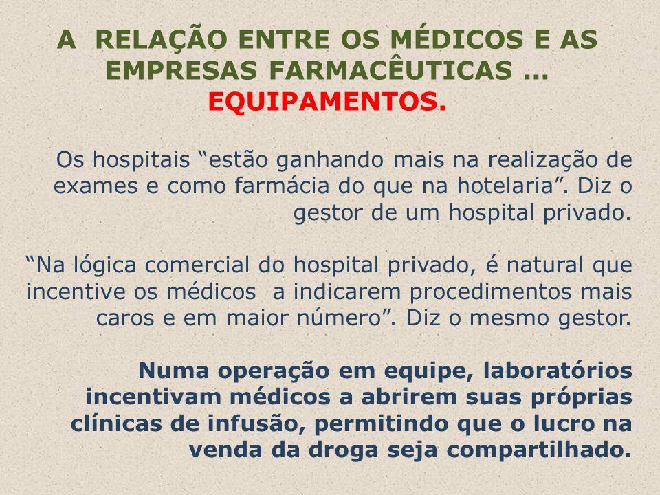 A RELAÇÃO ENTRE OS MÉDICOS E AS EMPRESAS FARMACÊUTICAS ... EQUIPAMENTOS.
