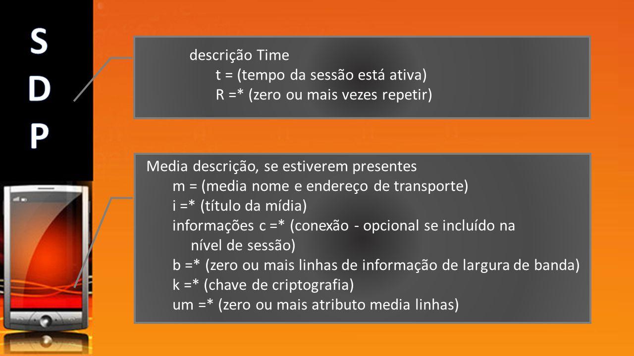 S D P descrição Time t = (tempo da sessão está ativa)