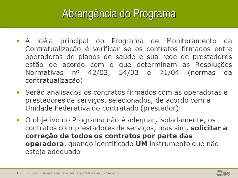 Abrangência do Programa
