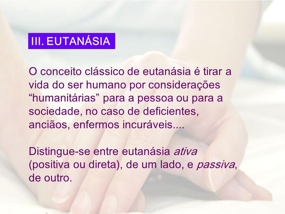 III. EUTANÁSIA