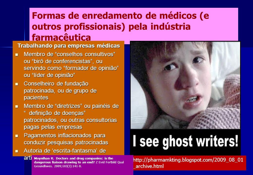 Trabalhando para empresas médicas